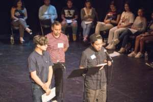 Sebastian, John and Jose read