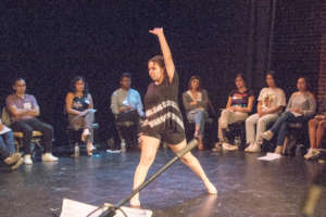 Leahnora dances at POPS book launch