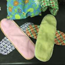 Reusable, washable sanitary pads made at Hlokomela
