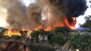 110 homes destroyed