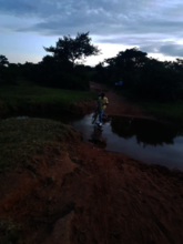 Road to School: Eroded by Rains