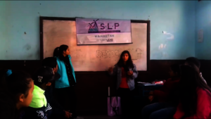 Simran running a session on civic engagement