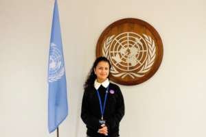 Sagoon at the UN Headquarters in New York