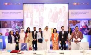 Prakriti with fellow youth representatives