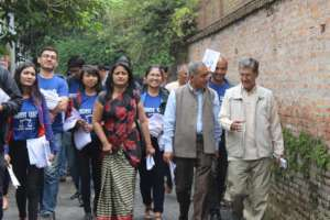 YWPLI Fellows Campaigning for Political Party