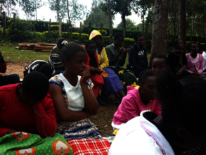 Beneficiaries of the program during a session