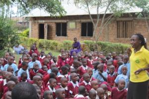 Joyce Amoyi teaching students life skills