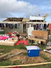 Devastation caused by Tropical Cyclone Gita