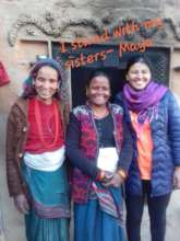 Maya Khaitu (right); Days for Girls Nepal