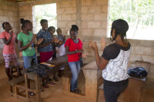 A Girls' Club gathering in southeastern Haiti.