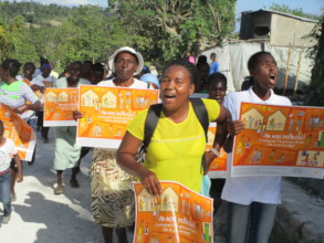 Marching to end violence against girls & women.
