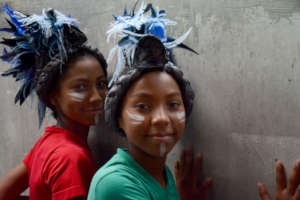 Two girls. Photo by Ximena Varela