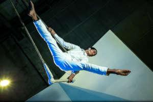 Boy in trapeze. Photo by Armando Millan
