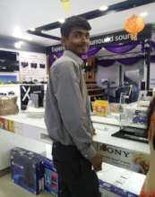 Shivam at his workplace