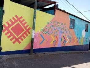 School mural side of school