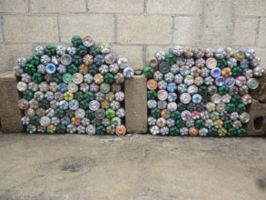 Eco-bricks collected in first 2 weeks Eco-Store #1