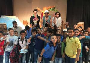 Theatre for 1000 deprived children in Palestine