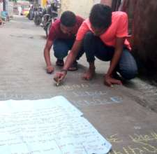 Messages on the streets to stop harassment