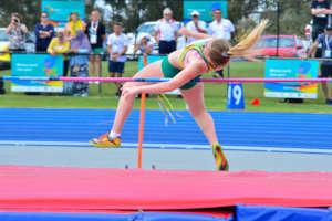 Virtus female high jump athlete