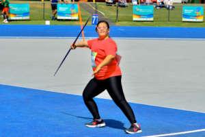 Virtus female Javelin athlete