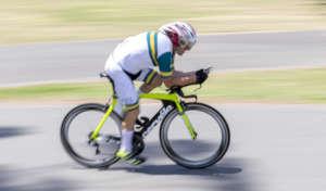 Virtus male cyclist athlete