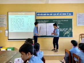 Training for students in Hue