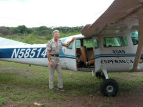 RAM Founder Stan Brock with Air Ambulance