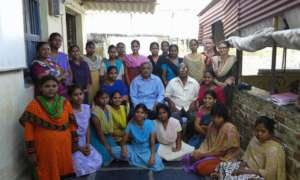 Girls at Asha Sadan with HELP Secretary, Ram Mohan