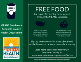 Seminole County Health Department Flyer