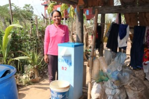 Phoung with her BioSand Water Filter