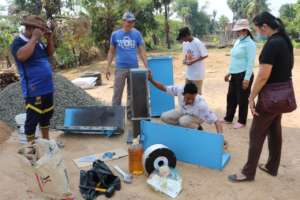 Local church partners constructing filters