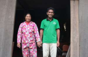 Local pastor and wife in Sandan district