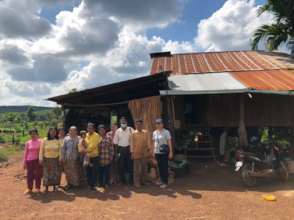 Visiting families in Tboung Khmum