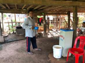 Sambo, happy to be drinking clean and safe water