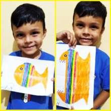 David, 5, with his drawing