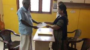 Report being handed over to a parent .