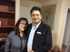 The directors of OSSO, Lorena and Rodrigo