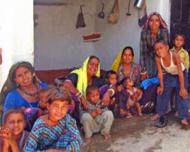 An Indian family at home in tiger territory