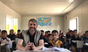 Marco visiting one of the schools in Mosul Region