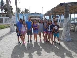 Building friendships in their beach trip