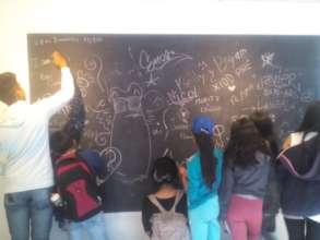 Children receive academic support