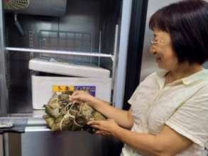 Food bank fridge is a great help to the needy