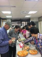 Sharing food to needy people in the communities