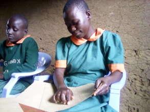 Braille lesson