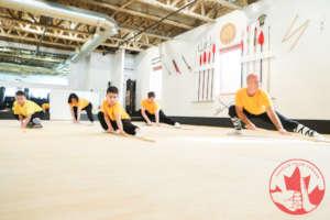 Atheletes training - traditional staff form