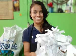 Working with recycling paper