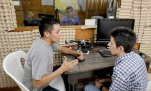 Victor who is blind works with Radio Program