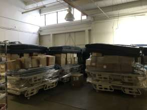 Hospital Beds Being Prepared for Shipment
