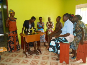 Women acquire tailoring skills
