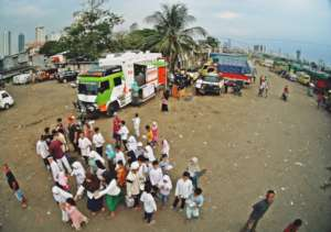 Bird view of Humanity Food Truck